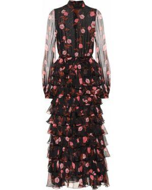 Платье с цветочным принтом шелковое Giambattista Valli