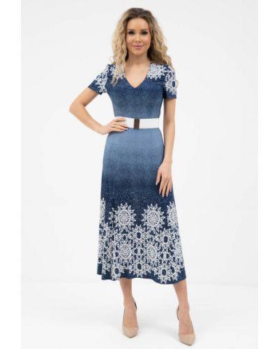Приталенное нарядное платье с вырезом Wisell