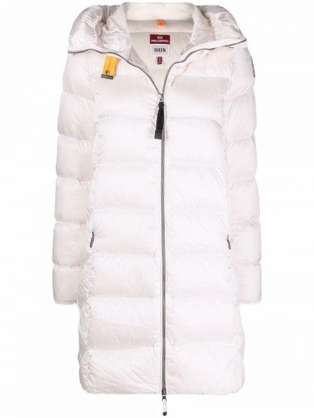 Белое пальто из полиэстера Parajumpers