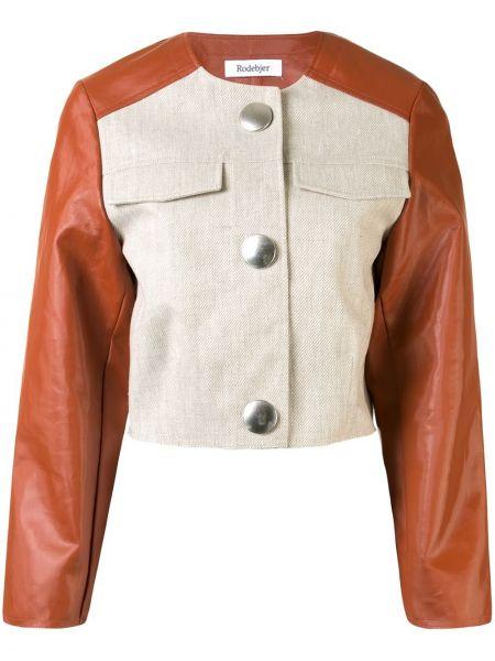 С рукавами прямая куртка круглая с круглым вырезом Rodebjer