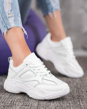 Klasyczne białe sneakersy skorzane Mckeylor