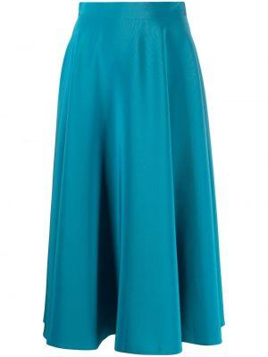 Niebieska spódnica rozkloszowana z wysokim stanem Gianluca Capannolo