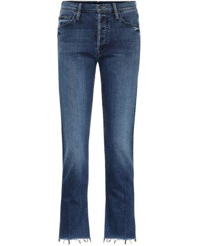 Прямые джинсы mom синие Mother