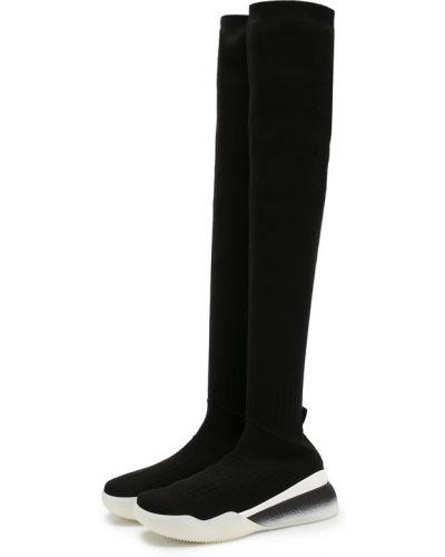 Черные кроссовки текстильные Stella Mccartney
