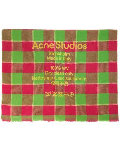 Зеленый шерстяной шарф прямоугольный Acne Studios