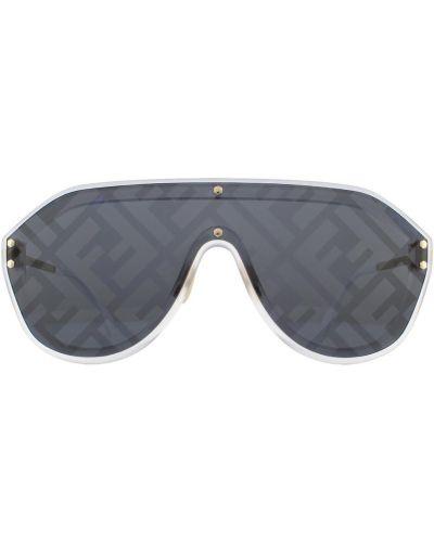 Szare okulary z printem Fendi