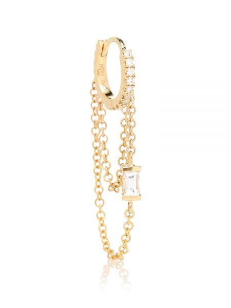Złote kolczyki ze złota z diamentem eleganckie Maria Tash