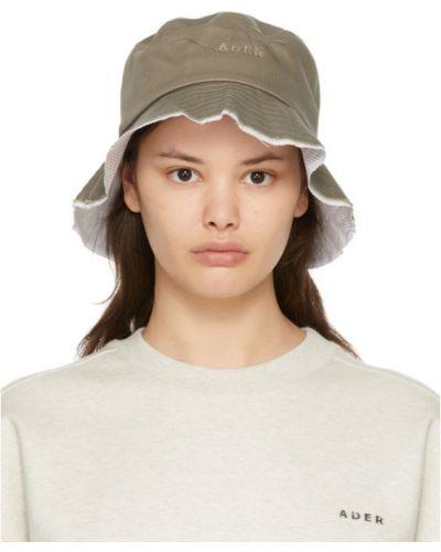 Белая шапка в полоску с опушкой Ader Error