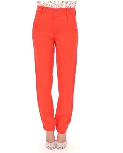 Pomarańczowe spodnie materiałowe Cote