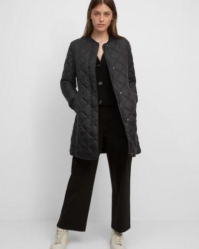 Czarny płaszcz zapinane na guziki Marc O Polo