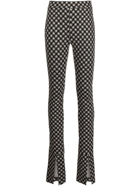 Зауженные черные брюки с манжетами Rosetta Getty