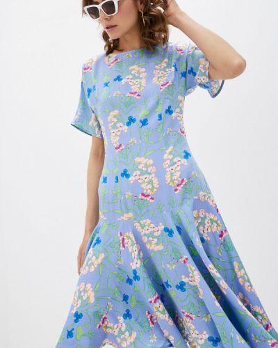 Платье - голубое мадам т