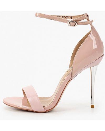 Лаковые кожаные розовые босоножки Dino Ricci