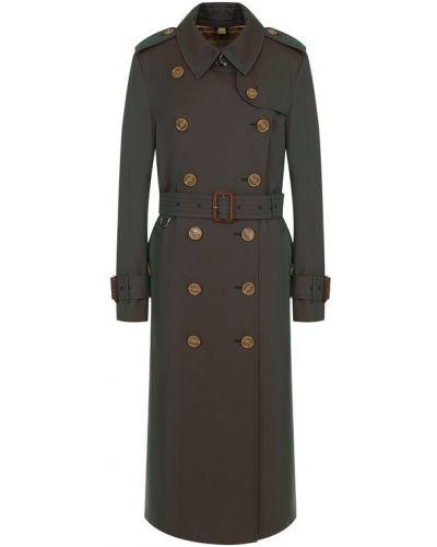 Пальто в клетку с поясом Burberry