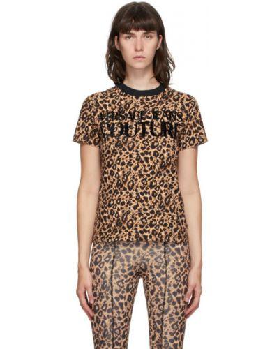 Хлопковая с рукавами черная джинсовая рубашка Versace Jeans Couture
