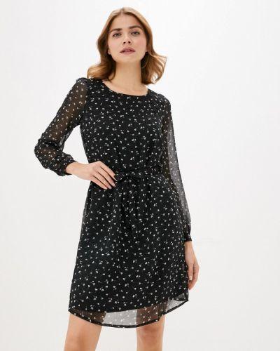Черное прямое платье Bruebeck
