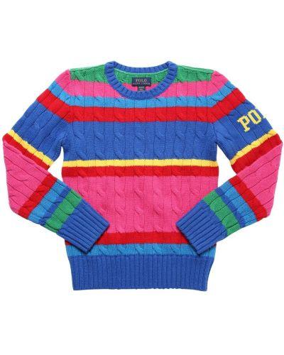 Bawełna bawełna z rękawami sweter Ralph Lauren