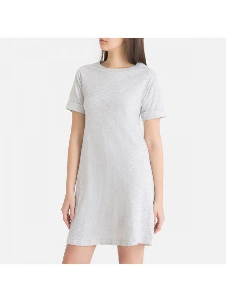 Платье мини футболка винтажная La Redoute