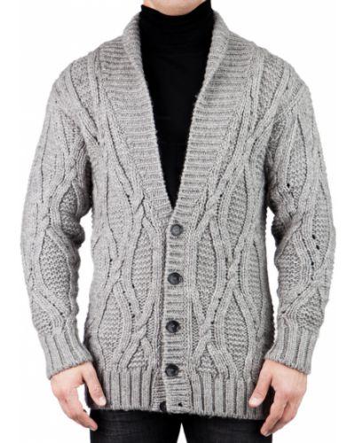 Кардиган из ангоры - серый Dolce & Gabbana