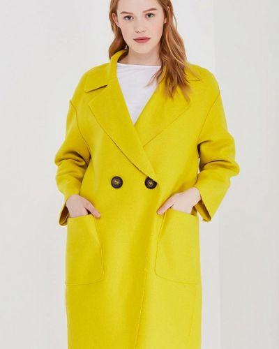 Желтое пальто весеннее Mango