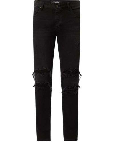 Czarne jeansy rurki bawełniane Raizzed