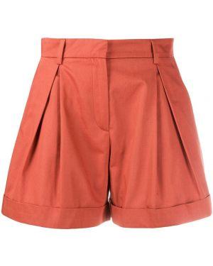 Коричневые шорты на пуговицах со складками L'autre Chose