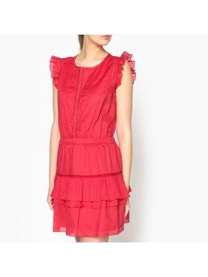 Платье мини летнее с поясом со складками Maison Scotch