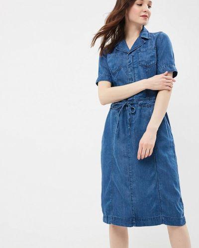 Джинсовое платье весеннее синее S.oliver
