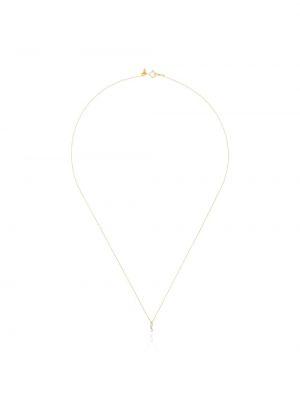 Żółty złoty naszyjnik z diamentem Persée