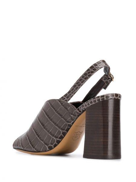 Кожаные коричневые босоножки Tila March