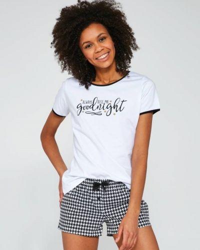 Хлопковая белая футболка с короткими рукавами Cornette