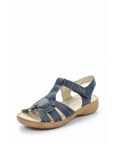Синие кожаные сандалии Marco Tozzi