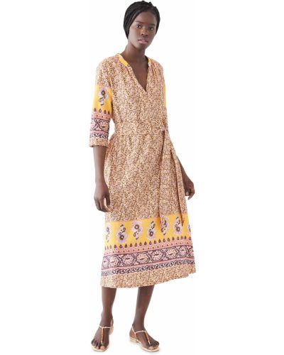 Шелковое платье с поясом с декольте Xírena
