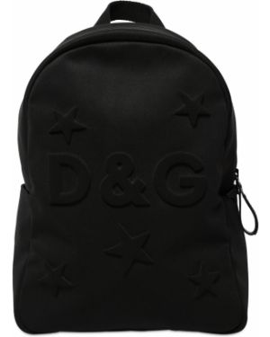 Czarny plecak z nylonu Dolce And Gabbana