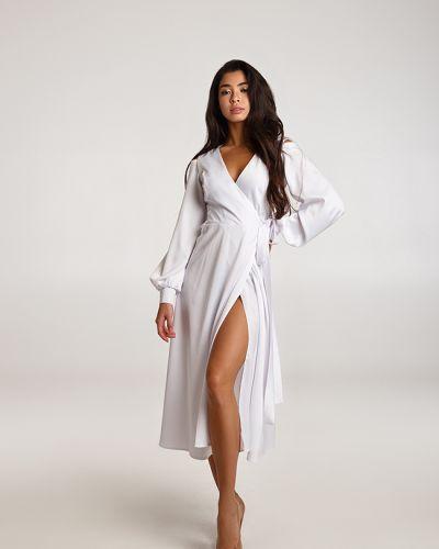 Вечернее платье миди - белое Lipar