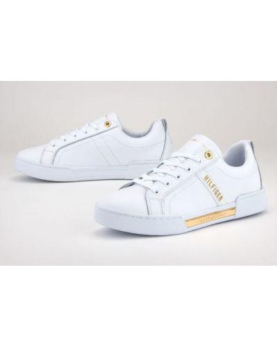 Białe złote tenisówki Tommy Hilfiger