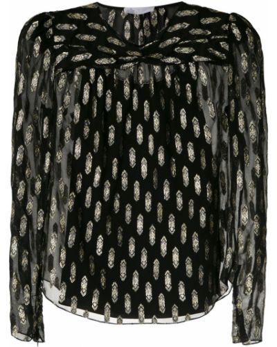 Блузка с длинным рукавом в полоску батник НК
