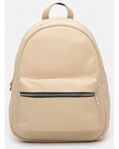 Кожаный рюкзак - бежевый Palmera
