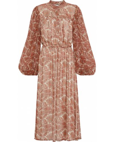 Шифоновое платье миди - бежевое Adam Lippes