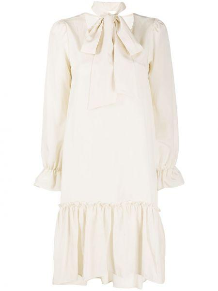 Шелковое платье макси - бежевое Ballantyne