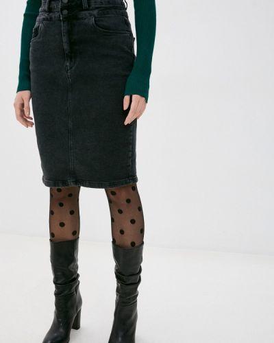 Прямая черная джинсовая юбка Bawer