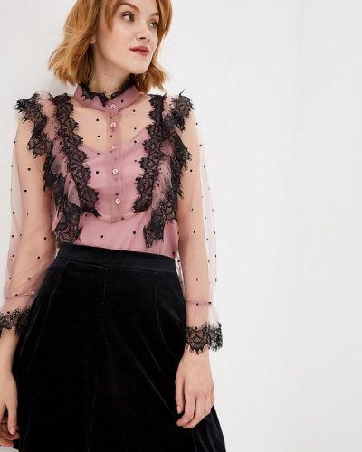 Фиолетовая блузка кружевная Paccio