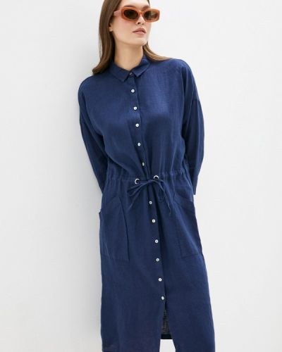 Синее платье рубашка Gerry Weber