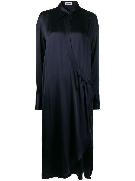 Платье миди с разрезами по бокам классическое Jil Sander