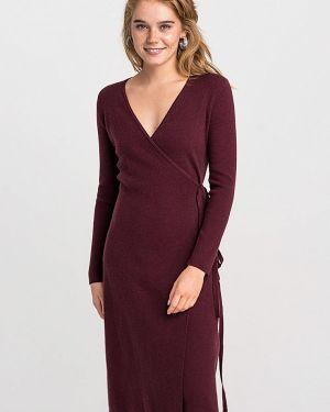 Платье бордовый с запахом Befree