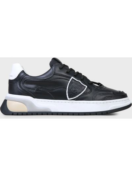Кожаные кроссовки - черные Philippe Model