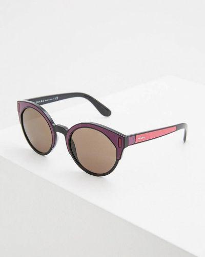 Фиолетовые солнцезащитные очки Prada