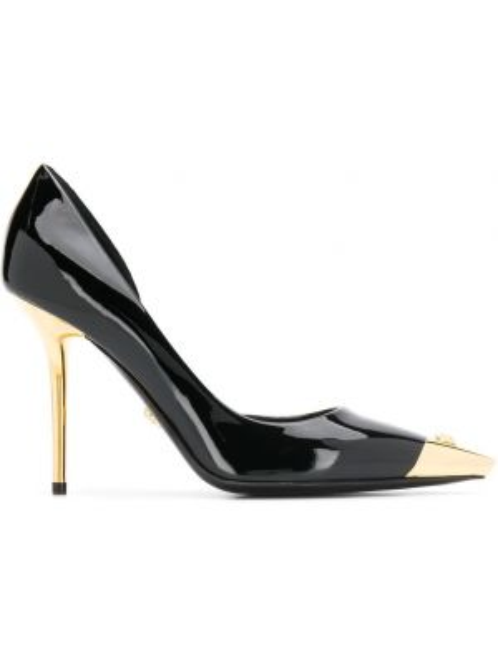 Кожаные туфли - черные Versace