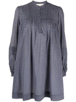 Платье макси с длинными рукавами - синее Michael Kors