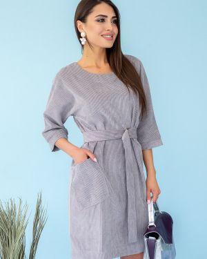 Платье с поясом вельветовое платье-сарафан Eliseeva Olesya